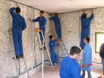 ремонт стен помещений Киселевск
